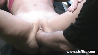 brutally fisting the wifey  as she exercises her abs Thumb