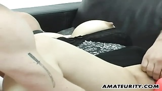 Busty amateur Milf anal threesome with facial Thumb