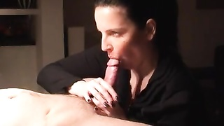 tedious blowjob and munching of manmeat until he cums Thumb