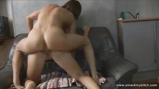 Her ass is absolutely flawless so proceed your eyes to it as she rails  his hard-on and grinds all o Thumb