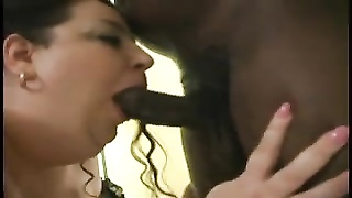 BBW is trio  times the size of her man Thumb