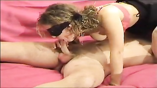 Masked couple has incredible amateur sex Thumb