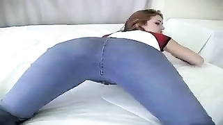 cute chick in denims undresses and looks so hot Thumb