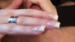 Erotic handjob with only her fingers makes him cum Thumb