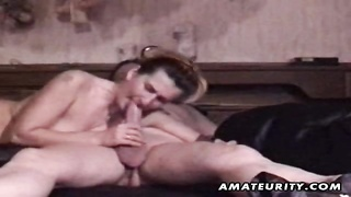 A outmoded fledgling  lovers homemade bj and screw in front of the camera unimaginative! real inexpe Thumb