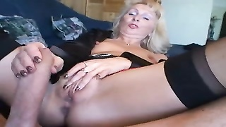 Blond German Milf - Fucks a Guy with her Nylons Thumb