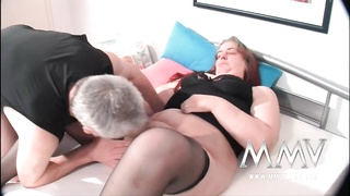 MMV Films German tart  helping out a corpulent mature wife to orgas Thumb