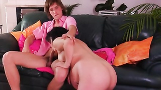 Pregnant Mom shapely youthful boys two Thumb