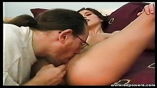 Horny Brunette Enjoys As Ed Powers Eats Her Juicy Pussy Thumb