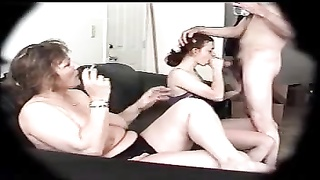 three-way with my voluptuous buxomy wifey  and neighbor lady Thumb
