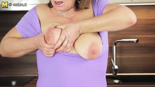 super hot stale mother plays with her moist vagina Thumb