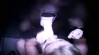 horny Blond lady in Gloryhole Thumb