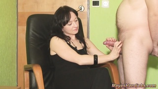2 cumshots on Maya shadowy dress Thumb