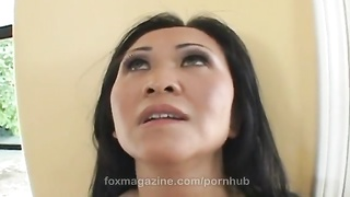 Horny Asian milf Kitty Langdon seducing her neighbor only at FoxMagazine Thumb