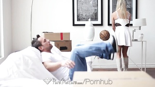 HD PureMature - Blonde Mia Leilani gets ass slammed with anal creampie Thumb
