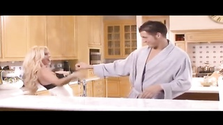 Scantily clad housewife fucked on kitchen counter Thumb