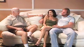 Two men fuck his wife as he watches Thumb