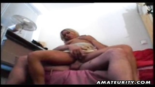 A hot blonde amateur wife rides the cock and gives hot blowjob with nice facial cumshot ! A genuine Thumb