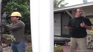 Housewife blows the construction workers Thumb