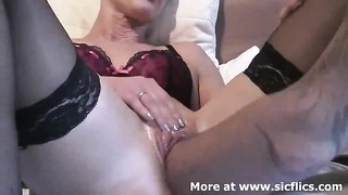 My wifes swollen puffy pussy takes a huge fist fucking till she orgasms Thumb