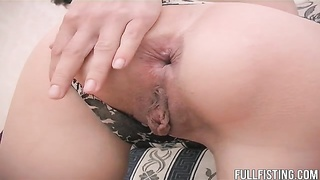 Hot Girlfriends Having Anal Strap-on And Fisting Fun! Thumb