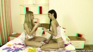 Porn Films 3D - Lesbian girlfriends dildoing in bed Thumb