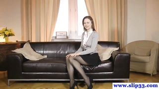 Classy euro beauty rips stockings for oldvsyoung fuck Thumb