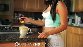 FantasyHD Teen s huge tits are sweeter with honey Thumb