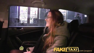 FakeTaxi Young office girl talked into fucking big cock making her orgasm Thumb