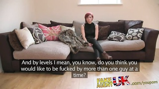 FakeAgentUK Multiple orgasms from cash strapped MILF Thumb