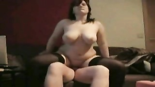 Fat Chubby Teen Riding cock and swallowing cum on hidden cam Thumb