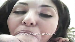 Horny turkish girl blowjob with cumshot Thumb