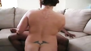 Wife climbs aboard big black cock for ride Thumb