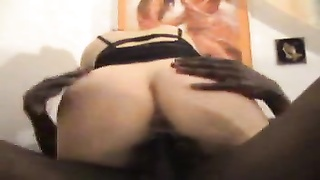 Wife sits on long and rock hard cock Thumb