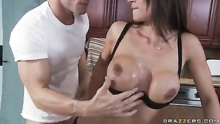 Housewife nailed by the muscular man Thumb