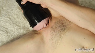 Amateur MILF Squirts With Fleshlight ... Again. Wet & Messy! Thumb