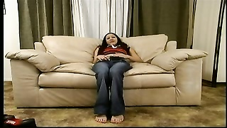 Rosa masturbating and giving footjob Thumb