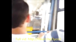 Girl at the bus makes me cum after i flash in public Thumb