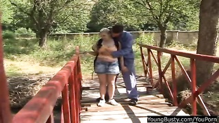 Young and busty Joanna fucking outdoors Thumb