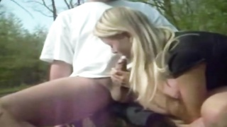 My Blonde Doing Hot Blowjob In The Park Thumb