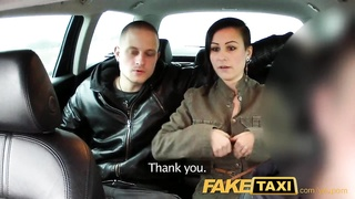 FakeTaxi Horny couple take taxi home where girlfriend is shared and loves it Thumb