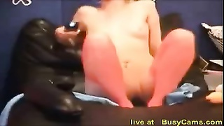 hot blonde girl play with extreme huge dildo Thumb