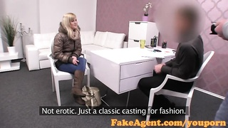 FakeAgent Cute blonde amateur takes anal in Casting Thumb