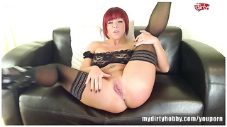 Fucked redhead MILF while german dirty talk Thumb
