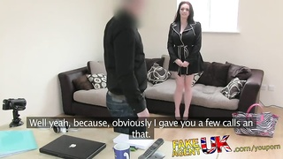 FakeAgentUK Brunette with amazing tits fooled for 2nd casting couch fuck Thumb