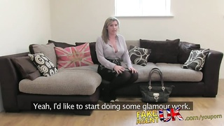 FakeAgentUK Brit girl gets spanked, fingered and fucked on casting couch Thumb