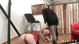 FFM A french swinger couple gets corrected n fisted in BSDM Thumb