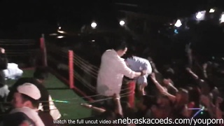 flashing and stripping naked in spring break club iphone video Thumb