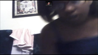 Black Amateur Plays on Cam and Shows Tits Thumb