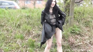 Sexy amateur Fayth Corbins public masturbation and outdoor pussy flashing Thumb